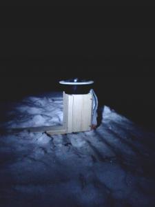 AllSky деревянный постамент, установленный на крыше