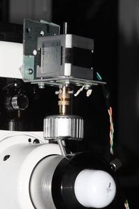 Мотор фокусировки, установленный на телескопе
