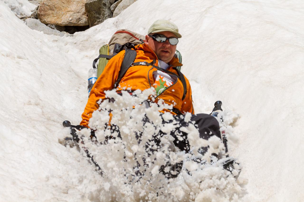 Горно не-лыжный спуск с пер. южные Доломиты