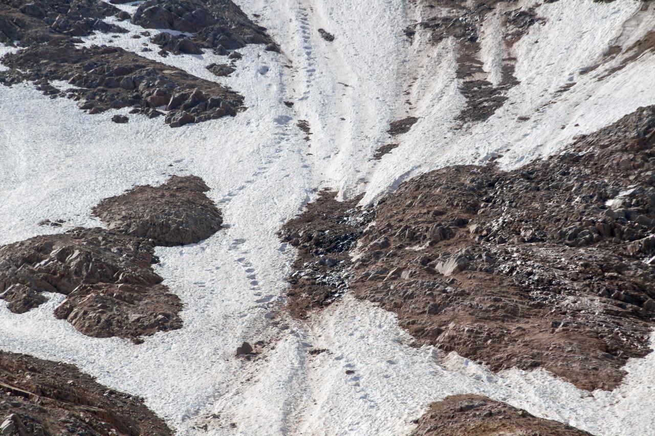 Дорожка от камнепада на г. Уллукамбаши
